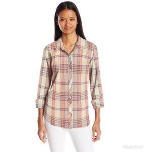 O'Neil plaid button down shirt